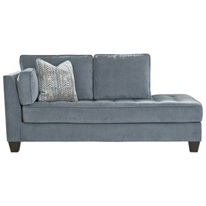 LAF Corner Chaise with Tufted Seat Cushion