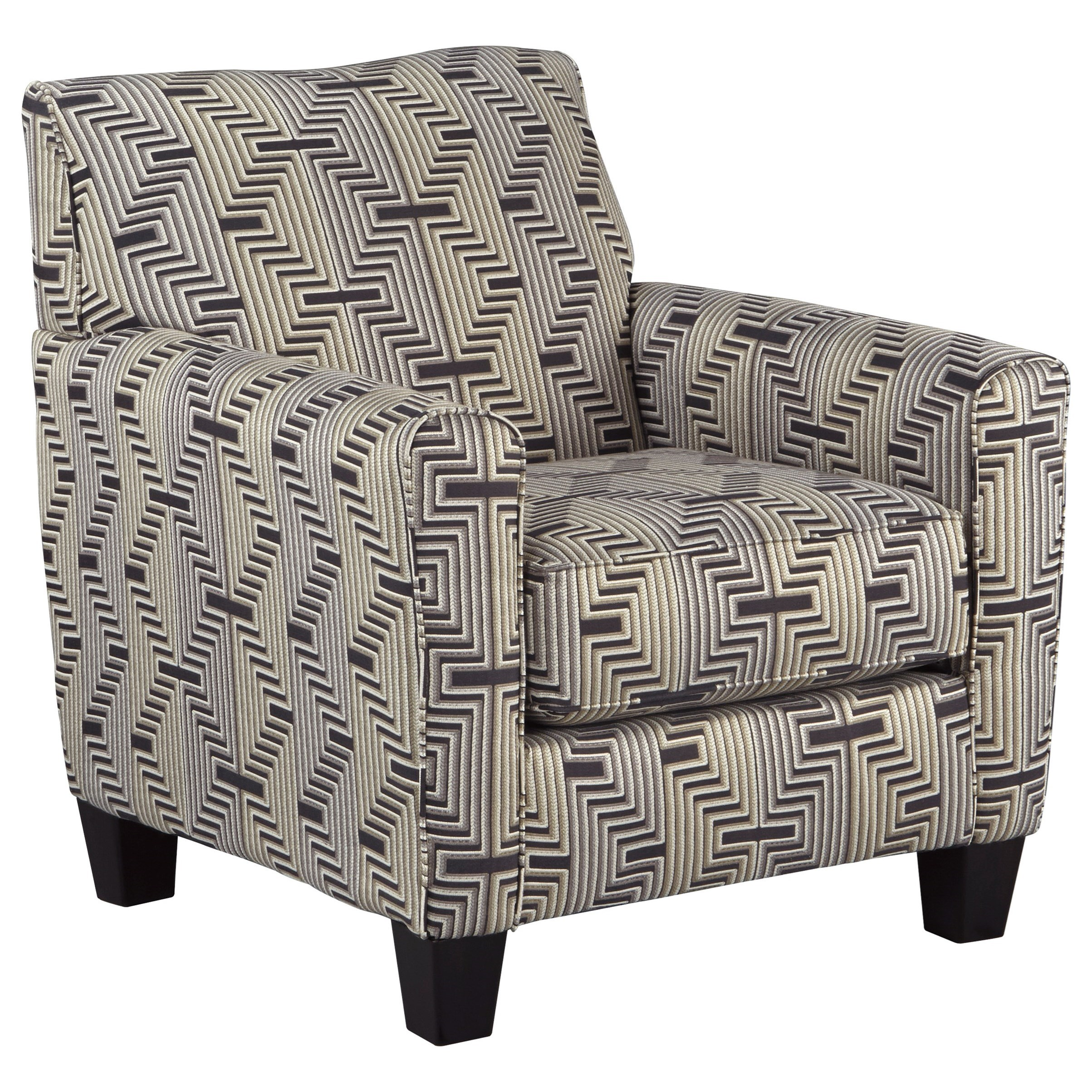 Accent Chair with Zig-Zag Fabric Design