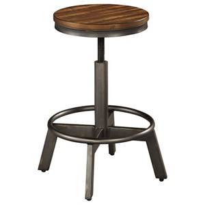 Rustic Stool with Adjustable Height