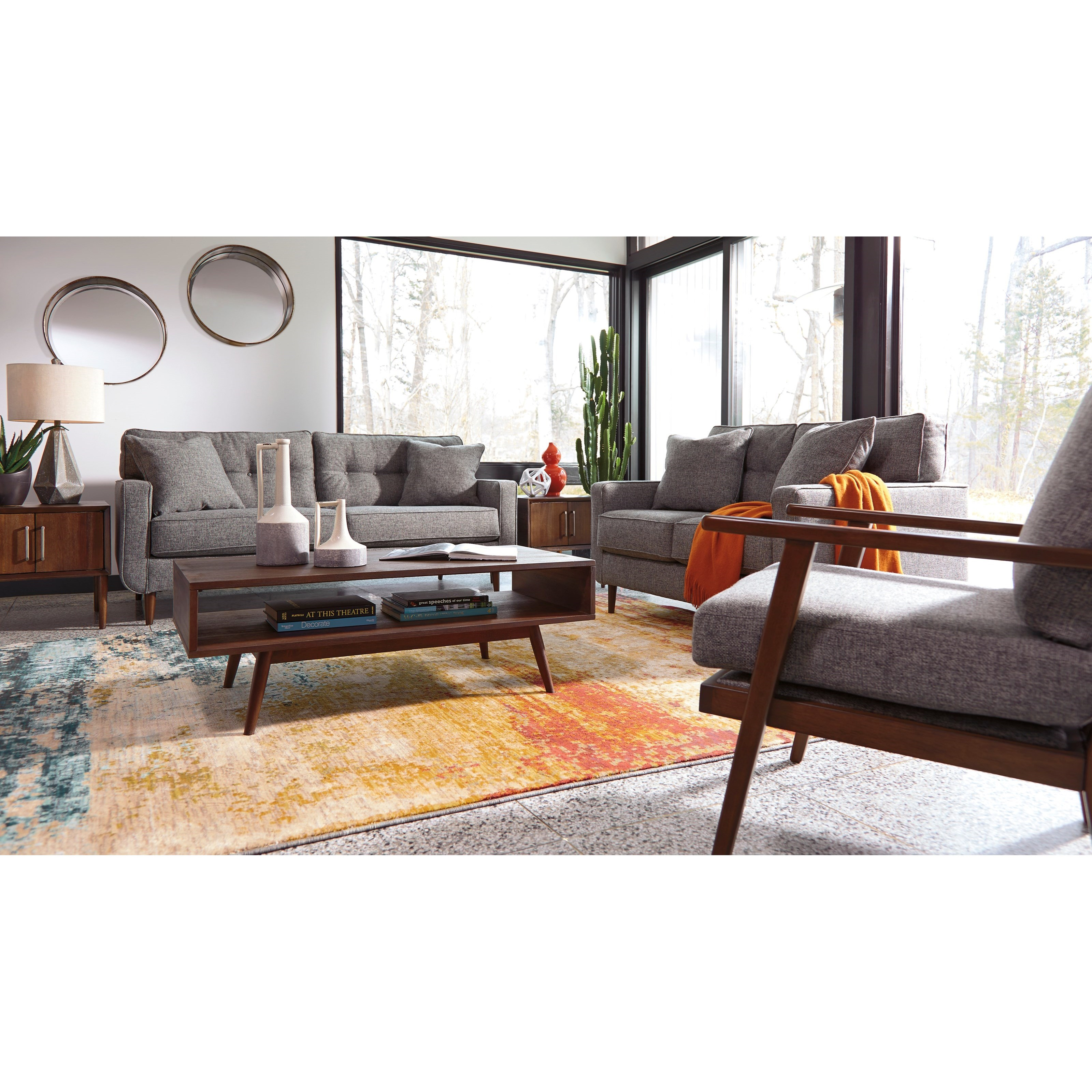 Mid Century Modern Sofa. By Ashley Furniture
