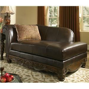 Millennium North Shore - Dark Brown Upholstered Chaise