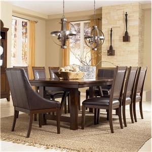 Millennium Holloway 9-Piece Extension Table Set