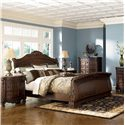 Millennium North Shore King Sleigh Bed - Item Number: B553-76+78+79