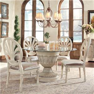 Millennium Ortanique 5-Piece Glass Top Table Set