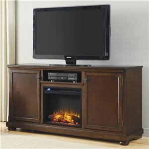 Millennium Porter Large TV Stand with Fireplace Insert