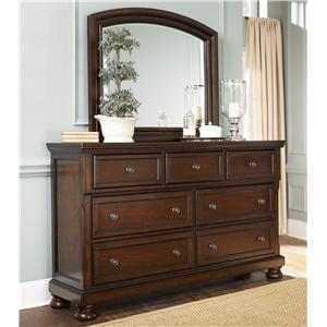Ashley Furniture Porter Dresser & Mirror Combo
