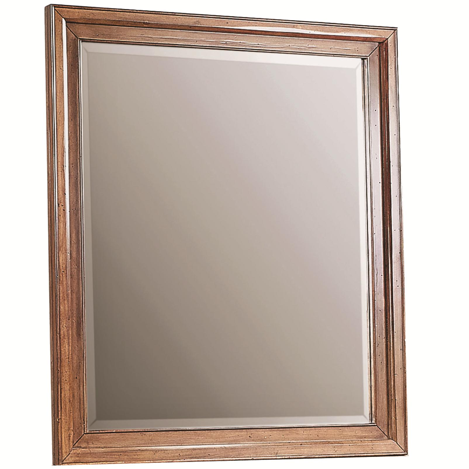 Rectangular Mirror with Beveled Edges