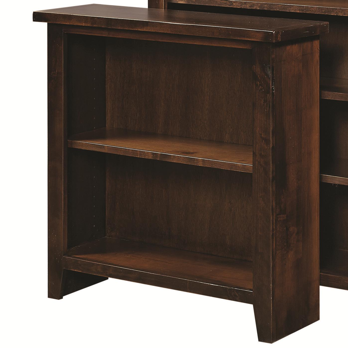 Small Bookcase with 2 Adjustable Shelves