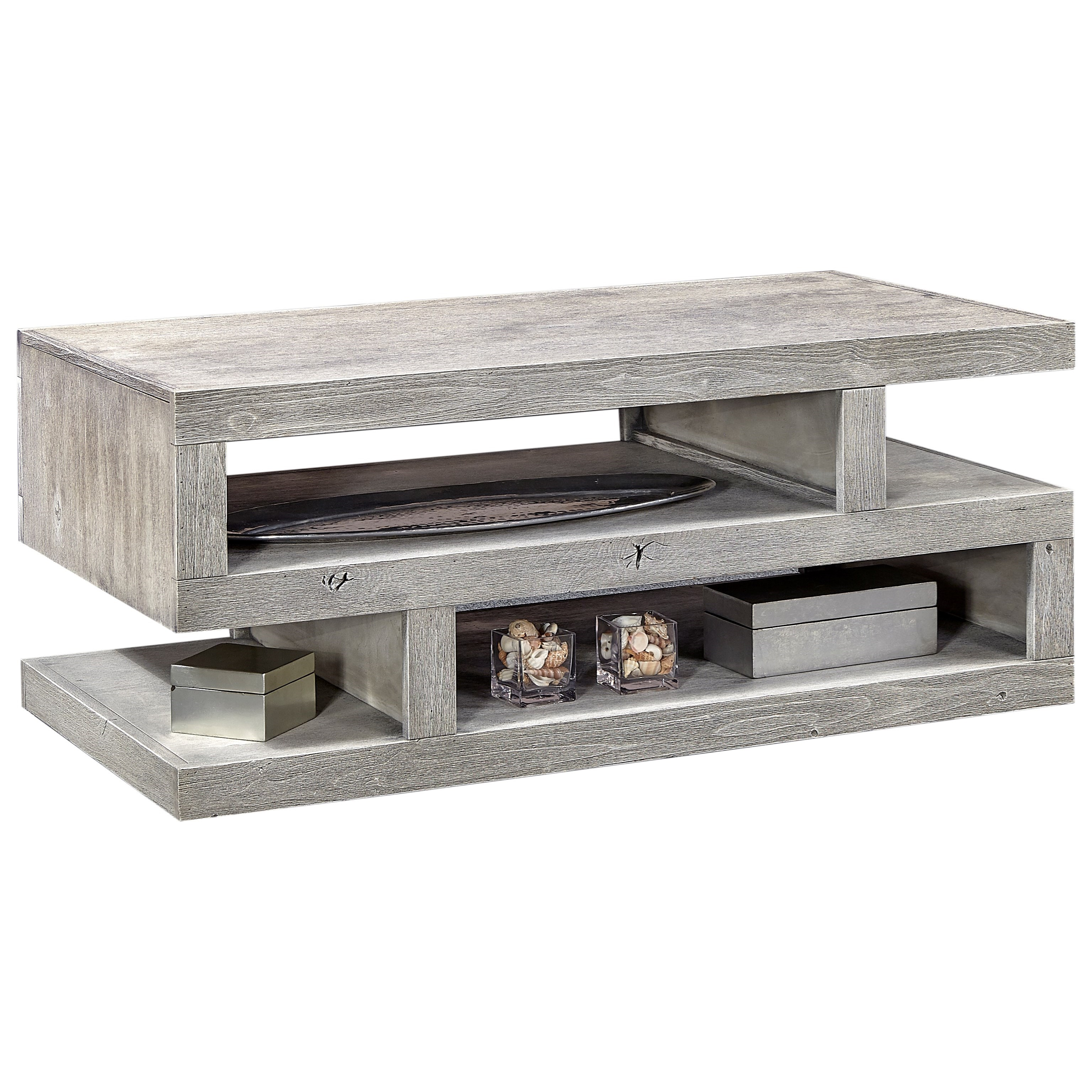 Contemporary Cocktail Table with Extra Shelf Space