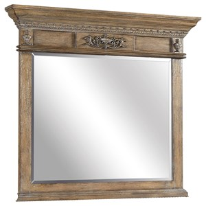 Landscape Mirror with Crown Molding