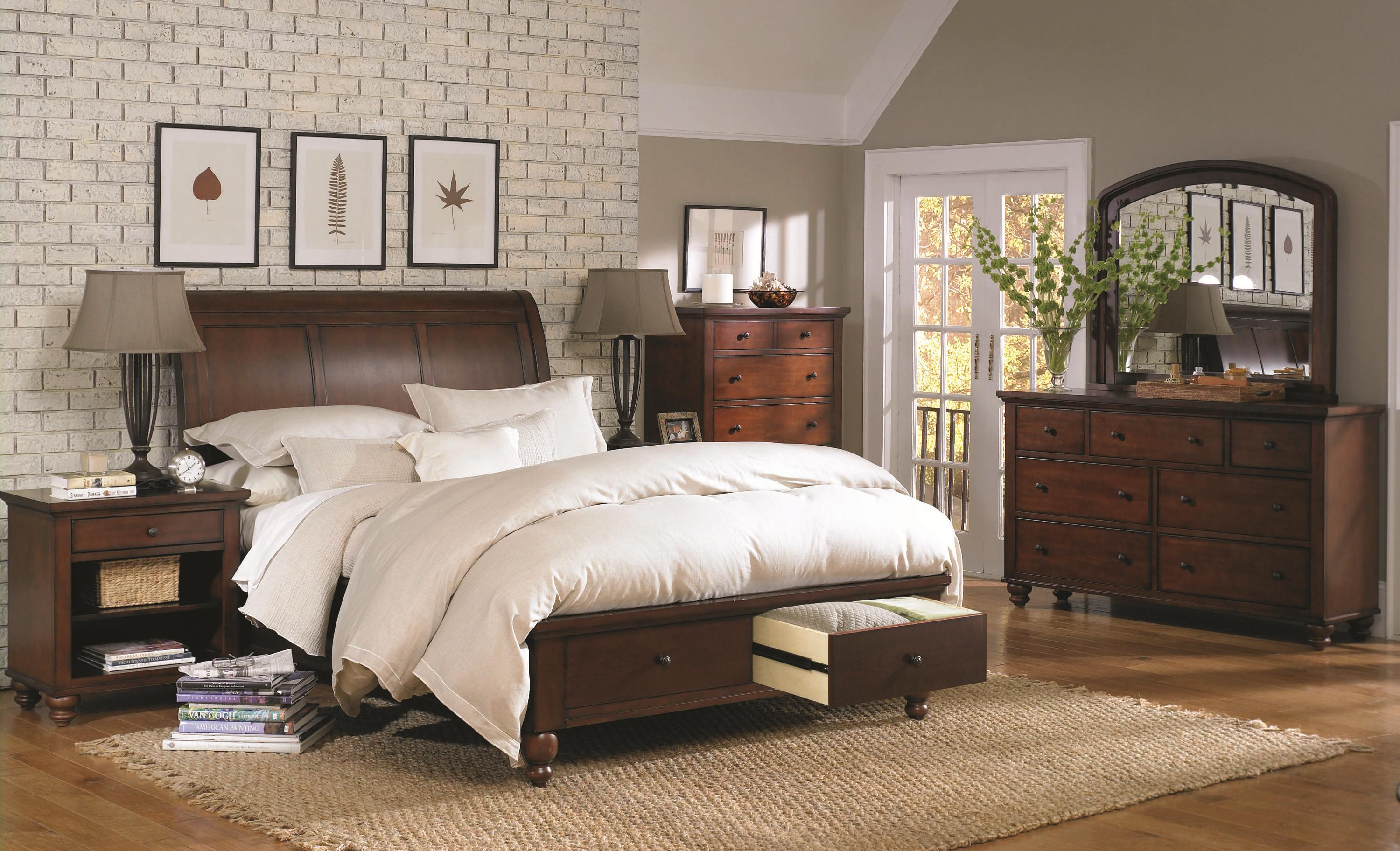 King Size Bed With Sleigh Headboard Amp Drawer Storage