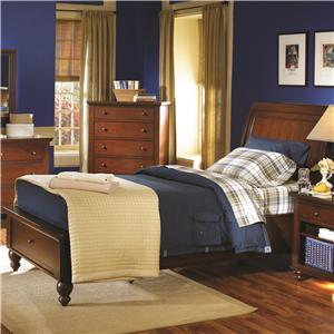 Aspenhome Cambridge Full Storage Sleigh Bed