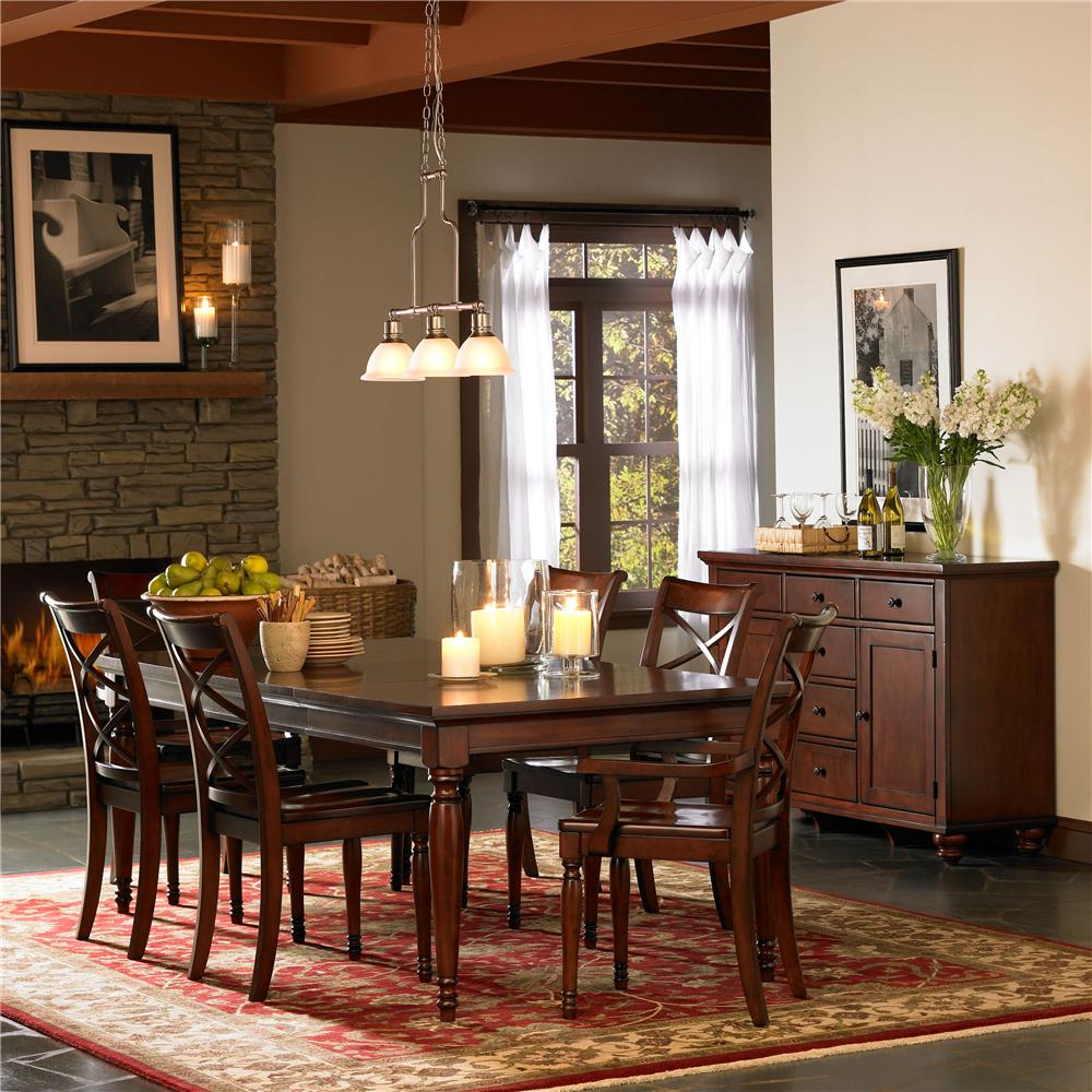 Rectangular Leg Dining Table & Chair Set By Aspenhome