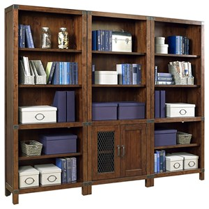 Bookcase Wall with Interchangeable Door Panels