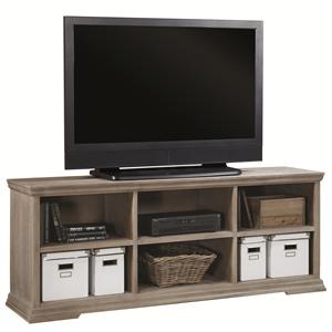 72-Inch TV Console with Open Compartment Storage