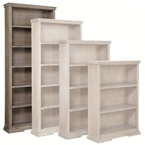 """Aspenhome Canyon Creek 84"""" Bookcase with 5 Fixed Shelves"""