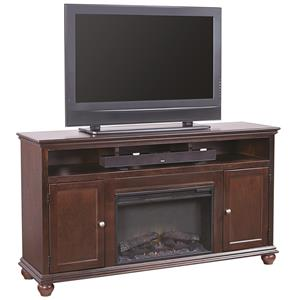 "Aspenhome Casual Traditional 63"" Fireplace Console"