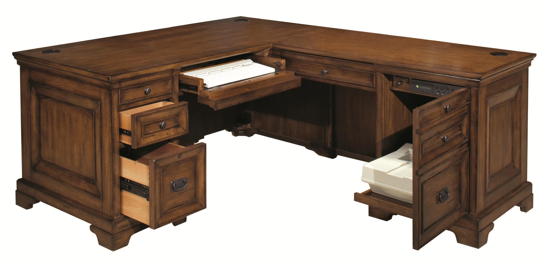 Desk With Return : Computer desk and return by aspenhome wolf gardiner