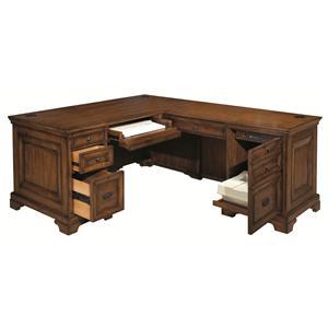 Aspenhome Centennial Computer Desk & Return