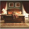 Aspenhome Centennial 2-Drawer, 1-Shelf Nightstand with 3-Way Touch Light - Shown with Arched Panel Bed