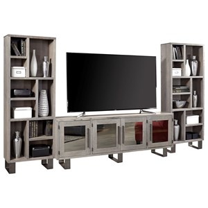 Contemporary Entertainment Wall Unit with 84