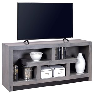60 Inch Console with Geometric Design