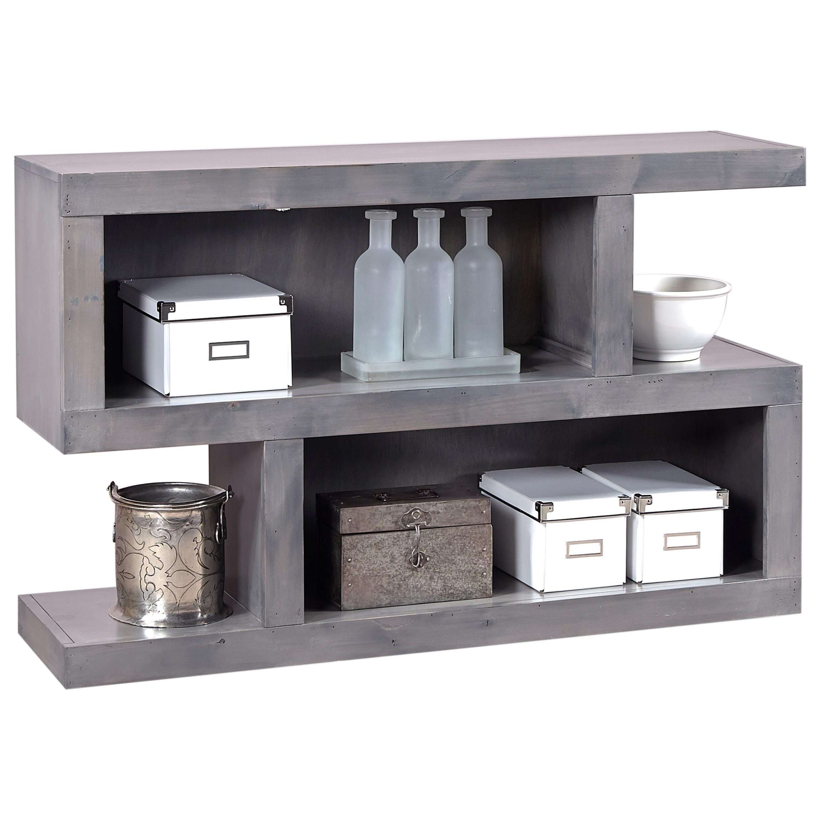 S Console Table with 4 Compartments