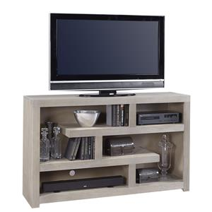 60 Inch Open Console with Geometric Shelving