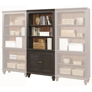 Bookcase with 2 Reversible Panel Doors and 3 Adjustable Shelves