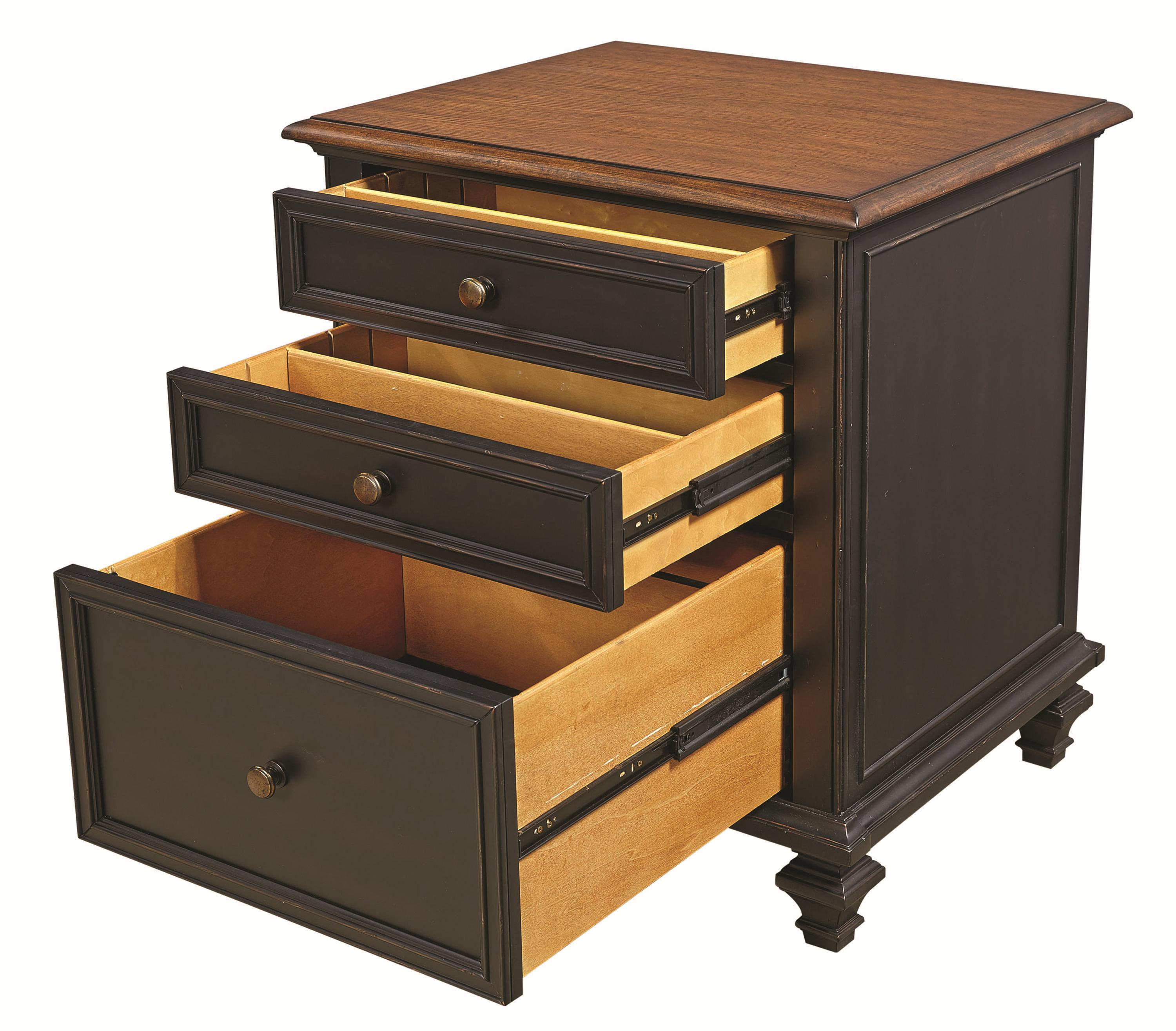 Single File Cabinet With 2 Utility Drawers
