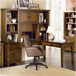 Aspenhome Cross Country L Desk & Hutch