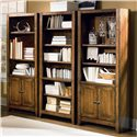 Aspenhome Cross Country Open Bookcase with Six Shelves - Shown as Bookcase Wall