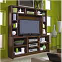 Aspenhome Essentials Lifestyle 74 Inch Console - Shown with Hutch.