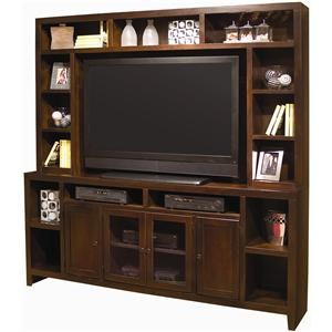 Entertainment Wall with 84-Inch Console & Hutch