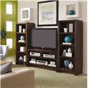 Aspenhome Essentials Lifestyle 60 Inch Pier - Shown with 49 Inch Console.