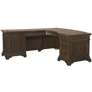 Aspenhome Essex Desk and Reversible Return