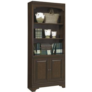 2 Door Bookcase with 3 Open Shelves