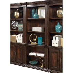 Open Bookcase with Concealed Drawer