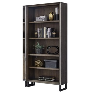 Contemporary Open Bookcase with Adjustable Shelves
