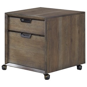 Contemporary Rolling File Cabinet with Two Drawers