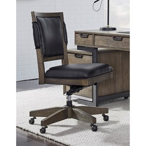 Contemporary Office Chair with Cushioned Seat