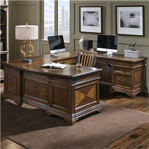 Aspenhome Hawthorne Right Facing Executive U Desk