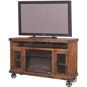 "Aspenhome Industrial 62"" Fireplace Console"