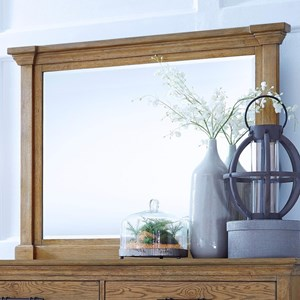 Transitional Beveled Dresser Mirror