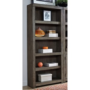 Contemporary Open Bookcase with 5 Adjustable Shelves