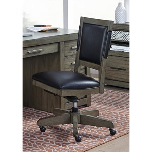 Office Chair with Gas Lift Seat and Knee Tilt Mechanism