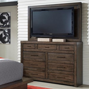 Media Chest with TV Mount and Drop-Front Drawer