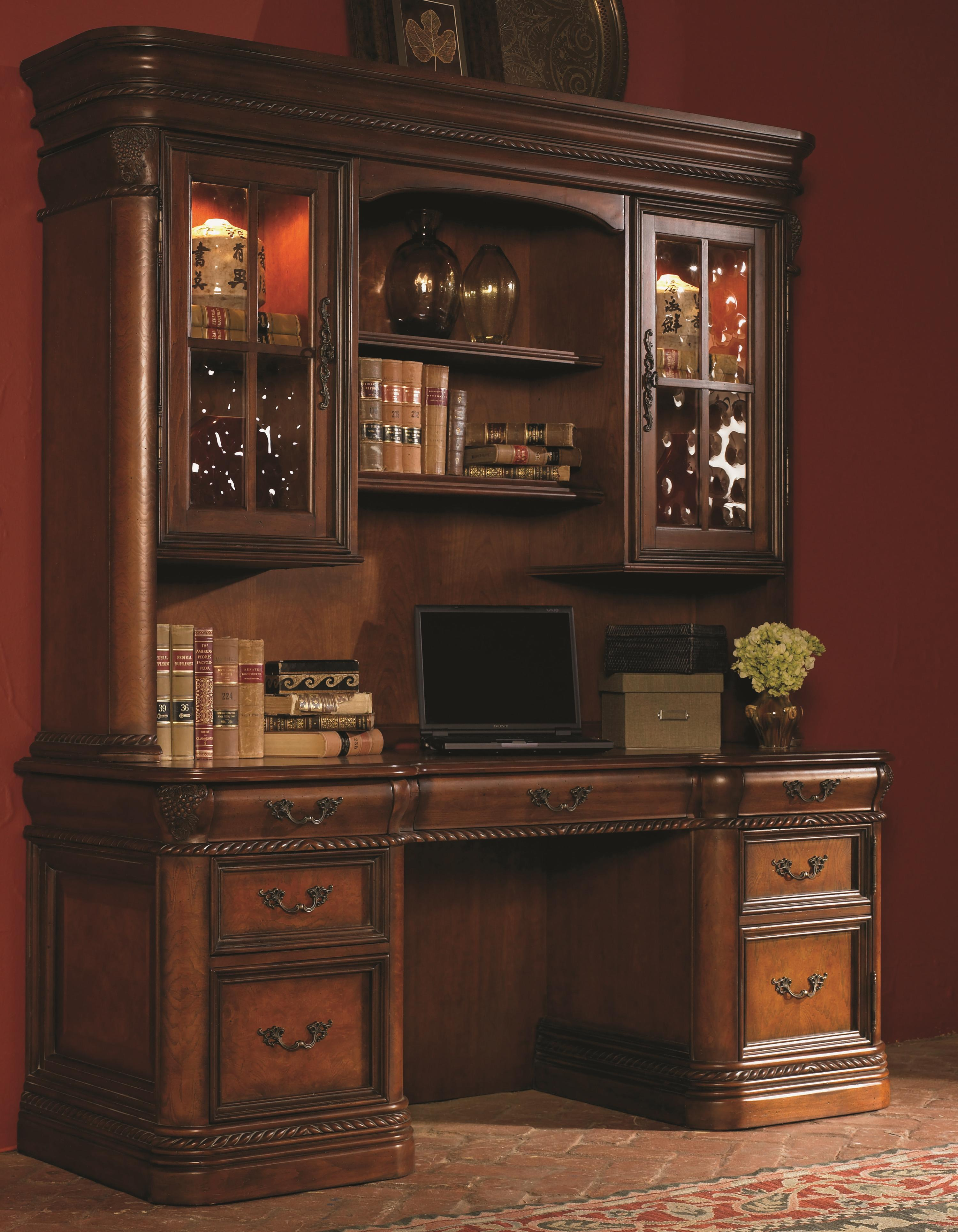 72 Inch Kneehole Computer Credenza Amp Display Hutch With