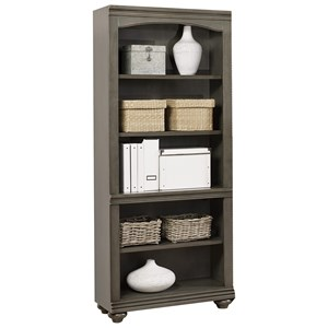 Open Bookcase with Adjustable Shelves