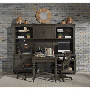 Modular Home Office Wall Unit with Outlets